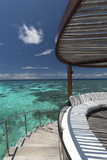 Stairs to the Beach and Sofa Overlooking the Ocean  Maldives  Indian Ocean