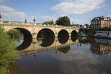 The Welsh Bridge over River Severn  Shrewsbury  Shropshire  England  United Kingdom  Europe