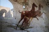 Roman Chariot Fresco  Ancient Ostia (Ostia Antica)  Rome  Lazio  Italy  Europe