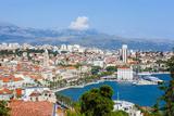Elevated View over Split's Picturesque Stari Grad and Harbour  Split  Dalmatia  Croatia  Europe