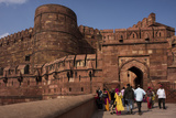Exterior of Agra Fort  UNESCO World Heritage Site  Agra  Uttar Pradesh  India  Asia