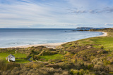 View over Whitepark Bay (White Park Bay)  County Antrim  Ulster  Northern Ireland  United Kingdom