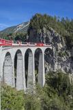 Landwasser Viadukt  Filisur  Graubunden  Swiss Alps  Switzerland  Europe
