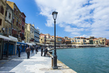 View of the Venetian Port of Chania  Crete  Greek Islands  Greece  Europe