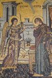 Mosaics on the Wall of St George's Church  Madaba  Jordan  Middle East