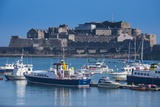 Fishing Boats Below Cornet Castle  Saint Peter Port  Guernsey  Channel Islands  United Kingdom