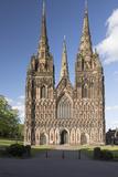 West Front  Lichfield Cathedral  Lichfield  Staffordshire  England  United Kingdom