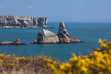 Church Rock  Broad Haven Beach  Pembrokeshire  West Wales  Wales  United Kingdom