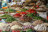 Fruits and Vegetables Stall at a Market in the Old Quarter  Hanoi  Vietnam  Indochina