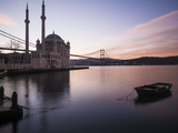 Exterior of Ortakoy Mosque and Bosphorus Bridge at Dawn  Ortakoy  Istanbul  Turkey