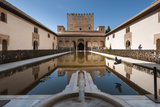 Court of the Myrtles  Alhambra  Granada  Province of Granada  Andalusia  Spain