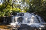 Mandala Falls Flowing in the Artificial Lake on the Mulunguzi Dam  Zomba Plateau  Malawi  Africa
