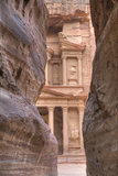 The Treasury as Seen from the Siq  Petra  Jordan  Middle East