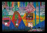 Resurrection Of Arhitecture Reproduction d'art par Friedensreich Hundertwasser