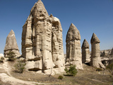 Natural Pinnacles in Volcanic Ash  Zemi Valley  Goreme  Cappadocia  Anatolia  Turkey Minor  Eurasia
