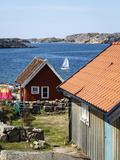 Timber Houses in Fjallbacka  Bohuslan Region  West Coast  Sweden  Scandinavia  Europe
