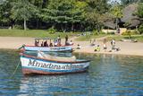 Boats on Lake Malawi  Cape Maclear  Malawi  Africa