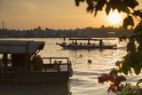 Boats on Can Tho River at Dawn  Can Tho  Mekong Delta  Vietnam  Indochina  Southeast Asia  Asia