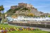 The Town of Mont Orgueil and its Castle  Jersey  Channel Islands  United Kingdom