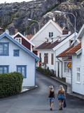Street Scene in Fjallbacka  Bohuslan Region  West Coast  Sweden  Scandinavia  Europe