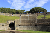 Auditorium and Entrance Gate  Amphitheatre  Roman Ruins of Pompeii  Campania  Italy