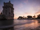 Belem Tower at Dusk (Torre De Belem)  Lisbon  Portugal