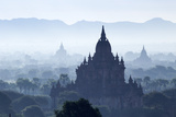 North Guni Temple  Pagodas and Stupas in Early Morning Mist at Sunrise  Bagan (Pagan)