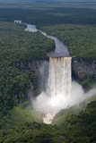 Aerial View of Kaieteur Falls and the Potaro River in Full Spate  Guyana  South America