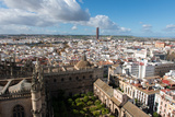 View of Seville from Giralda Bell Tower  Seville  Andalucia  Spain