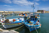 Fishing Boats in the Old Harbour of Heraklion  Crete  Greek Islands  Greece