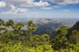 View over Zomba and the Highlands from the Zomba Plateau  Malawi  Africa