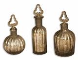 Kaho Antique Silver Perfume Bottles S/3