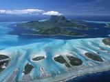 Aerial View over Bora Bora  French Polynesia