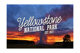 Yellowstone National Park - Old Faithful Sunset
