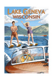 Lake Geneva  Wisconsin - Water Skiers