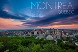 Quebec  Canada - Montreal Skyline at Night