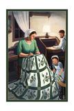 Amish Quiltmaking Scene