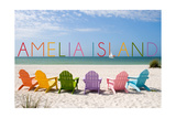 Amelia Island  Florida - Colorful Beach Chairs