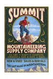 Mountaineering Supplies - Vintage Sign
