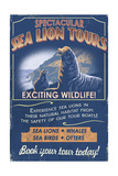 Sea Lion - Vintage Sign