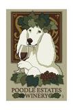 Poodle - Retro Winery Ad