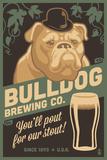 Bulldog - Retro Stout Beer Ad