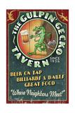 Gecko Tavern - Vintage Sign