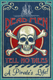Skull and Crossbones - Vintage Sign