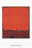 Orange, Red, and Red Reproduction d'art par Mark Rothko