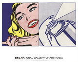 Girl and Spray Can Reproduction d'art par Roy Lichtenstein