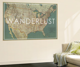 Wanderlust - 1933 United States of America Map