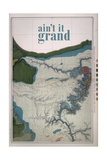 Ain't it Grand - 1882  Grand Canyon Map - The Kanab  Kaibab  Paria and Marble Canon Platforms