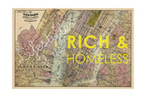 Lifestyles of the Rich & Homeless - 1891  New York  Brooklyn  & Jersey City Map