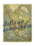 Let's go Somewhere - 1924 North America Map